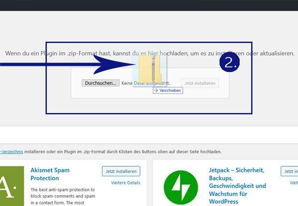 wordpress plugin manuell installieren