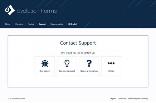 Evolution Forms Screenshot